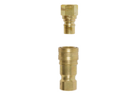"QC12MF: 1/2"" Brass Heavy Duty Quick Disconnect Supply and Receiving Sides for Propane / Natural Gas"