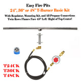 "24"" T-Burner Complete Basic Propane Fire Table Kit"