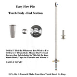 "TORCH24CK Single 24"" Portable Basic Propane Torch Kit (Burner w/ No Bowls)"