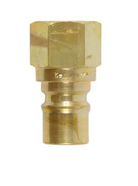 "Quick Connect Fitting 1/2"" Brass Heavy Duty Quick Disconnect Male Receiving Side for Propane / Natural Gas"