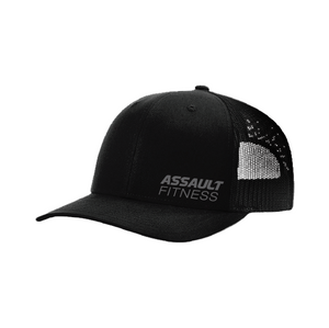 Assault Fitness Trucker Hat - Black