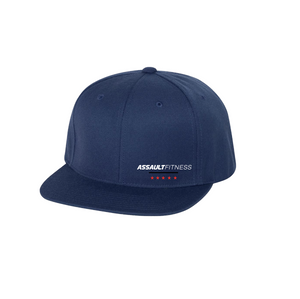 Flex Fit Flat Brim Hat - Navy