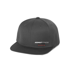 Flex Fit Flat Brim Hat - Dark Grey