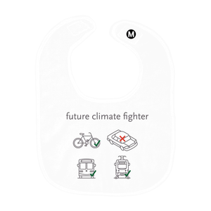 Future Climate Fighter Baby Bib - Los Angeles Metro Shop