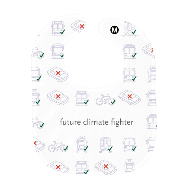 Future Climate Fighter Transportation Baby Bib - Los Angeles Metro Shop