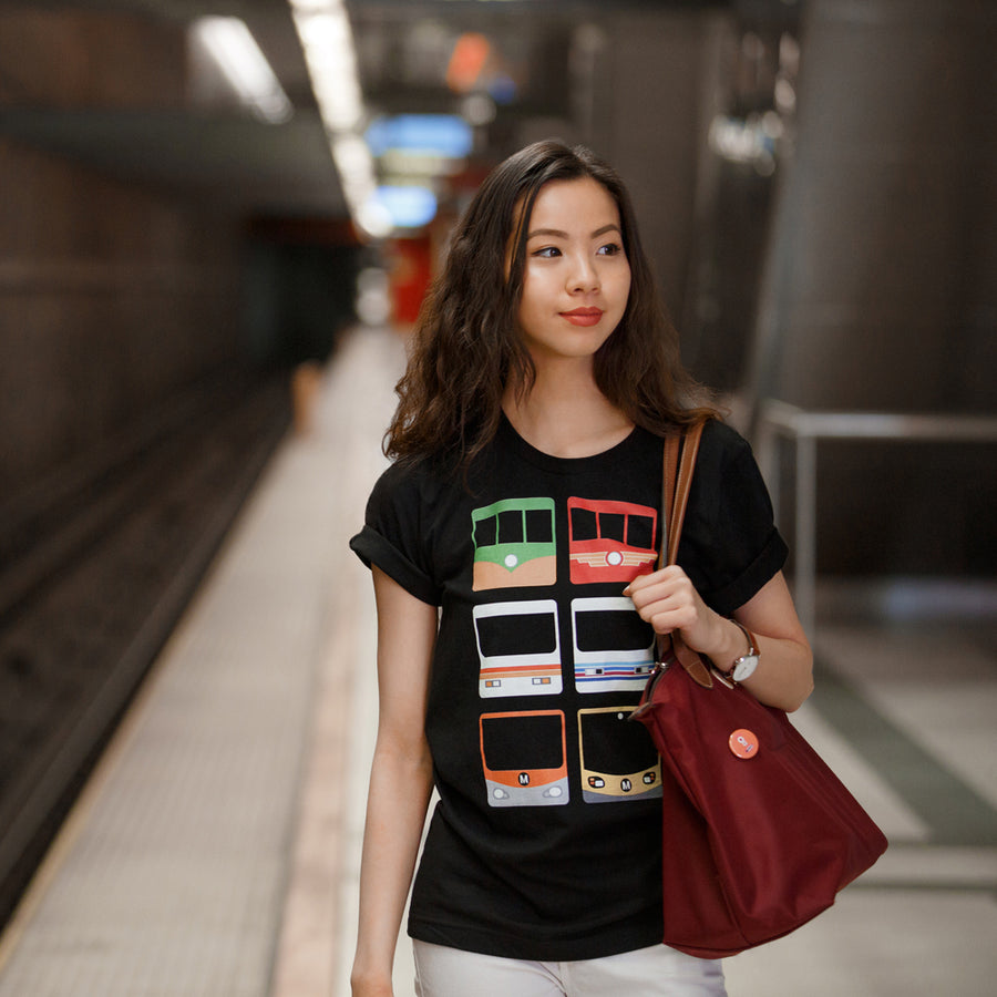 Metro Past and Present Short-Sleeve Unisex T-Shirt - Metro Shop