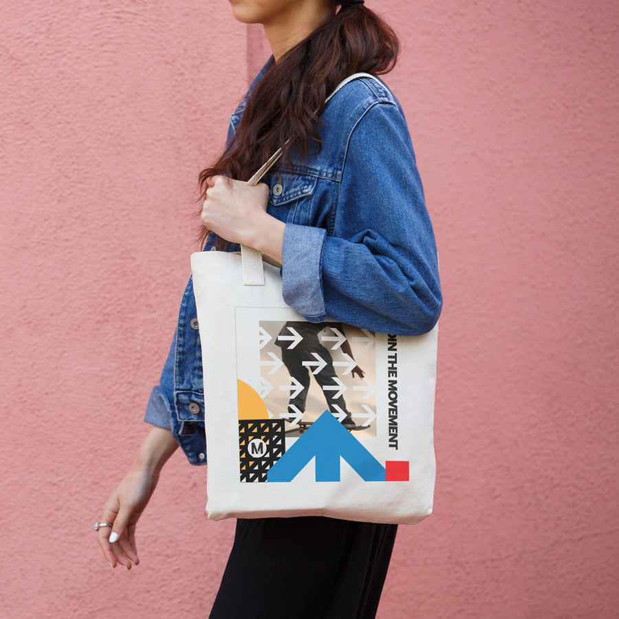 Skate the Movement Cotton Eco Tote Bag - Los Angeles Metro Shop