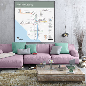 Go Metro Map Backlit Poster