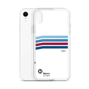 Blue Line Vintage iPhone Case - Los Angeles Metro Shop