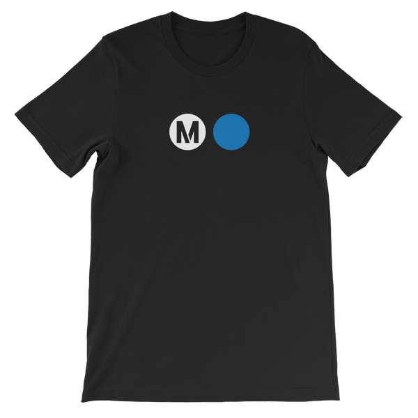 Metro Blue Line Circle T-Shirt (Black) - Los Angeles Metro Shop