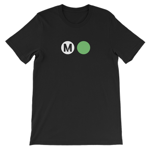 Metro Green Line Circle T-Shirt (Black) - Los Angeles Metro Shop