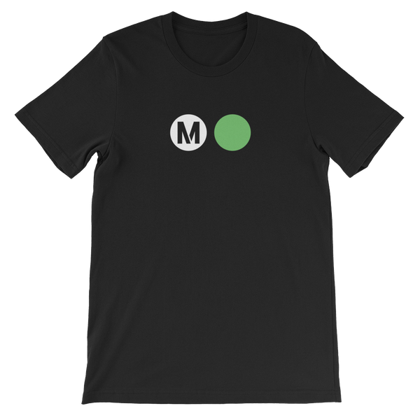Metro Green Line Circle T-Shirt - Los Angeles Metro Shop