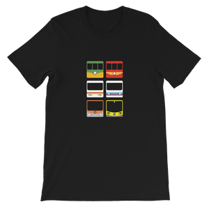 Metro Past and Present Short-Sleeve Unisex T-Shirt - Los Angeles Metro Shop