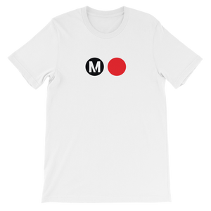 Metro Red Line Circle T-Shirt (White) - Los Angeles Metro Shop