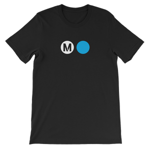 Metro Expo Line Circle T-Shirt (Black) - Los Angeles Metro Shop