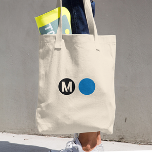 Metro Blue Line Tote Bag (Cotton) - Los Angeles Metro Shop