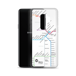 Go Metro Map (Line Letters) Samsung Case - Los Angeles Metro Shop