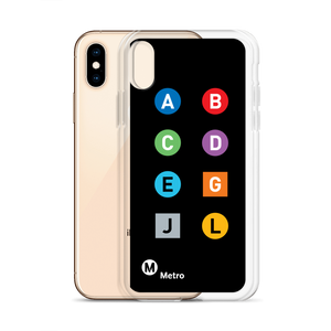 Metro Line Letters iPhone Case - Los Angeles Metro Shop