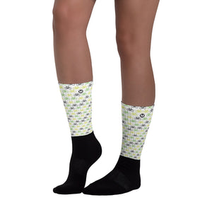 Bike the Movement Socks (White) - Los Angeles Metro Shop