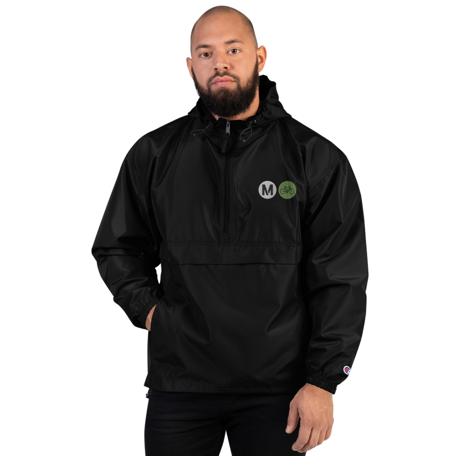 Metro Bike Embroidered Champion Men's Packable Jacket