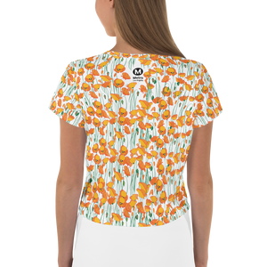 Woman's All-Over Print Poppies Tee - Los Angeles Metro Shop
