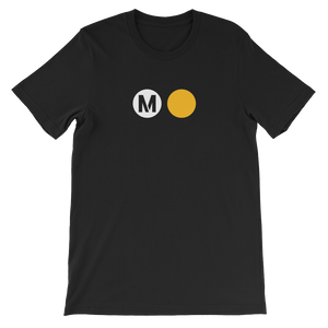 Metro Gold Line Circle T-Shirt (Black) - Los Angeles Metro Shop