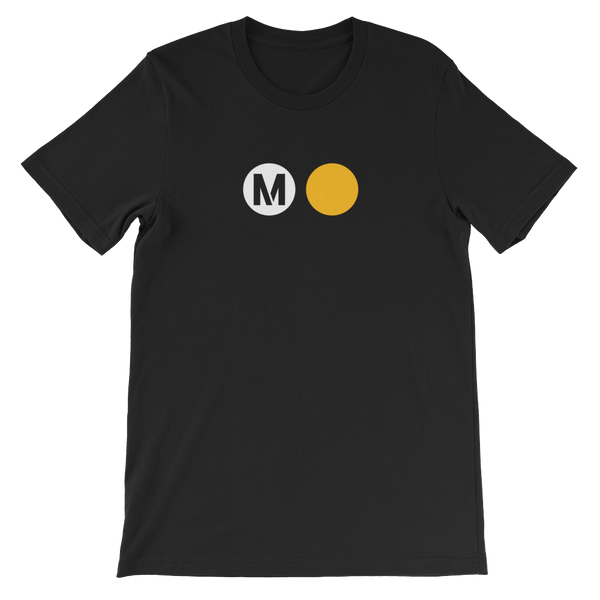 Metro Gold Line Circle T-Shirt - Los Angeles Metro Shop