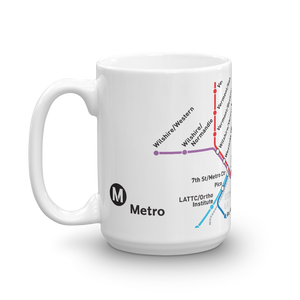 Go Metro Map Coffee Mug - Los Angeles Metro Shop