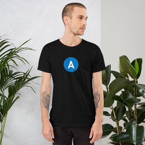 A Line Short-Sleeve Unisex T-Shirt - Los Angeles Metro Shop