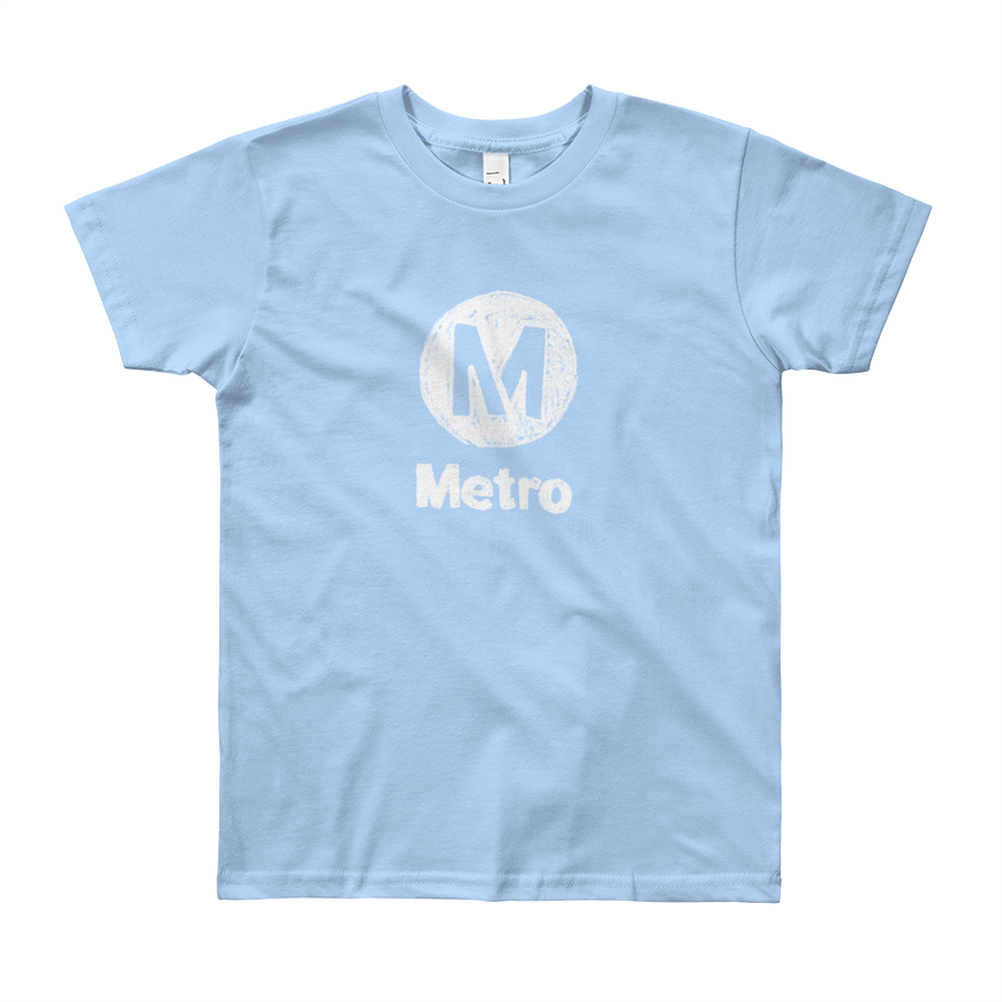 Metro Crayon Logo Kids T-Shirt - Los Angeles Metro Shop