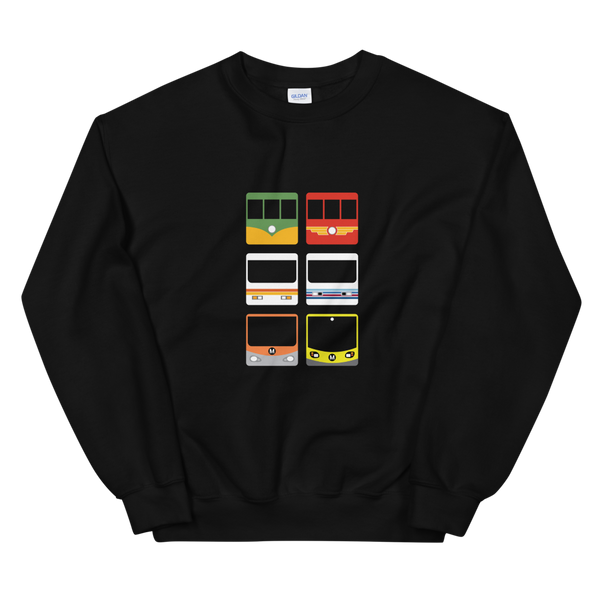 Metro Past and Present Sweatshirt - Los Angeles Metro Shop