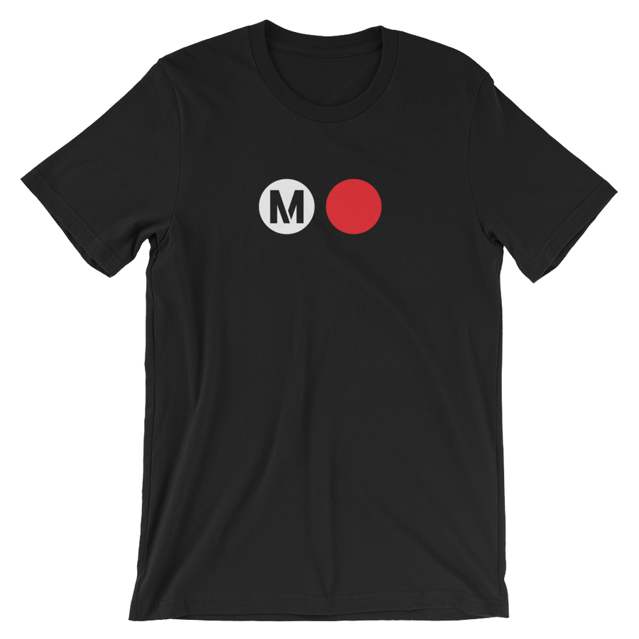 Metro Red Line Circle T-Shirt (Black) - Los Angeles Metro Shop