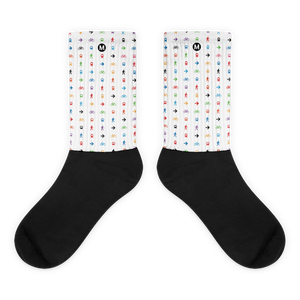 The Movement Iconic Pattern Socks (White) - Metro Shop