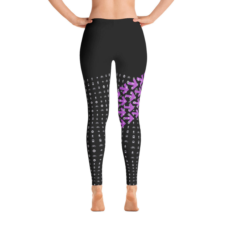 I Am the Movement Leggings (Black/Purple) - Metro Shop