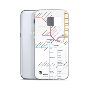 Go Metro Map Samsung Case - Los Angeles Metro Shop