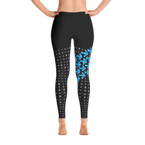 I Am the Movement Leggings (Black/Blue/Purple) - Metro Shop