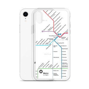 Go Metro Map (Line Letters) iPhone Case - Metro Shop