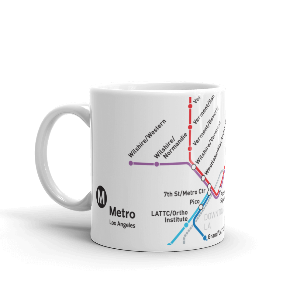 Metro Rail Map Coffee Mug 11 oz.