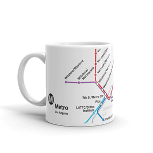 Go Metro Map Coffee Mug 11 oz. - Los Angeles Metro Shop