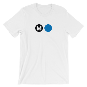 Metro Blue Line Circle T-Shirt (White) - Los Angeles Metro Shop