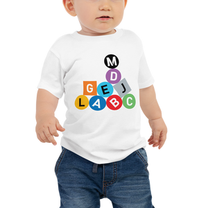 Metro Line Letters Baby Jersey Short Sleeve Tee - Los Angeles Metro Shop
