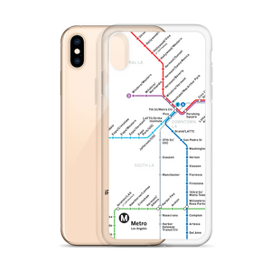 Go Metro Map (Line Letters) iPhone Case - Los Angeles Metro Shop