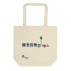 Multimodal Icon Eco Tote Bag - Los Angeles Metro Shop