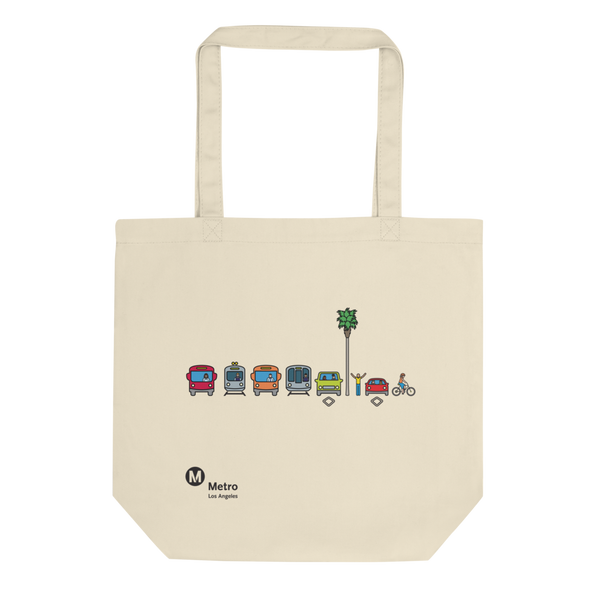 Multimodal Icon Eco Tote Bag - Metro Shop
