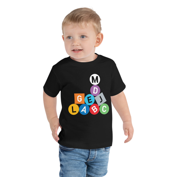 Metro Line Letters Toddler Short Sleeve Tee - Metro Shop