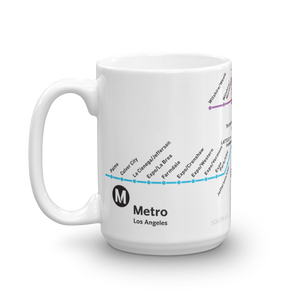 Go Metro Map Coffee Mug 15 oz. - Los Angeles Metro Shop