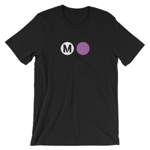 Metro Purple Line Circle T-Shirt - Los Angeles Metro Shop