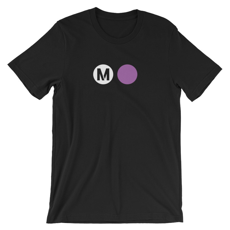 Metro Purple Line Circle T-Shirt (Black) - Los Angeles Metro Shop