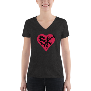 Metal Super kind Women's Deep V-neck Tee - Los Angeles Metro Shop