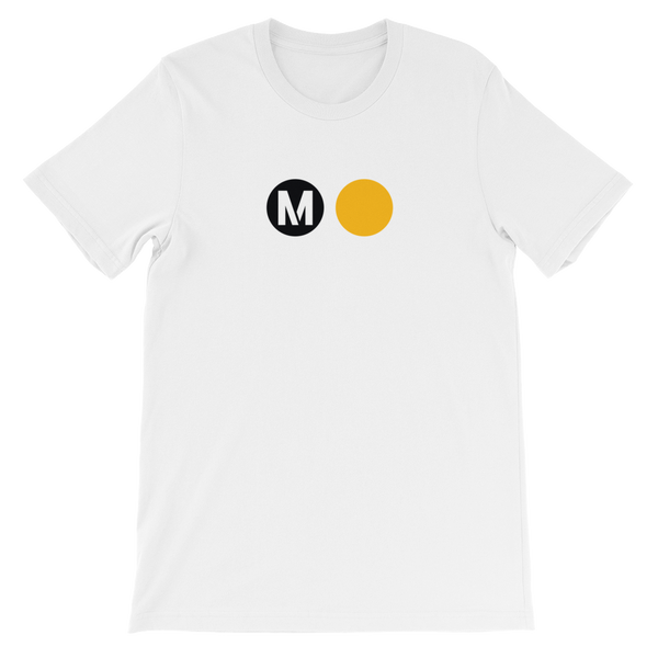 Metro Gold Line Circle T-Shirt (White) - Los Angeles Metro Shop